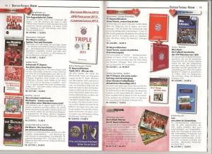 Im neuen AGON-Katalog:  Die Zweisamkeit der blauen Bücher gegen die rote Übermacht!