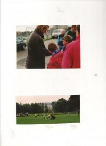 1996 gibt Horst Hrubesch Tobias und Markus an der Grünwalder Straße ein Autogramm, 1994 bindet Schiri Manfred Königsberger einem ganz jungen Sechziger in Krumbach die Schuhe.