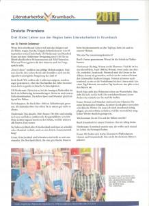 Interview zum Krumbacher Literaturherbst und der premiere der 3sten + 3Xang