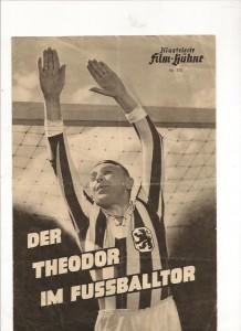 Theo Lingen auf einem uralten Filmplakat in Löwenmontur!