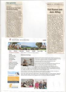 Presseberichte und Internetartikel zur Lesung beim Seniorennachmittag Krumbach St. Michael