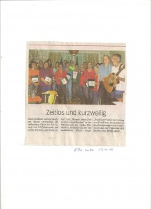 KRu extra über die Lesung in Breitenbrunn mit PopChorn