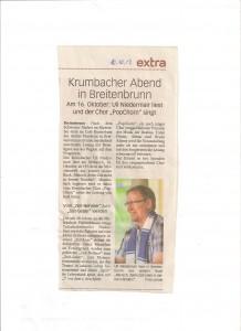 Vorbericht MN extra vom 10.10.13 zur Lesung in Breitenbrunn
