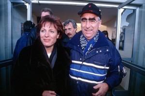 Theo Waigel mit seiner Frau Irene, ein echter Löwenfan